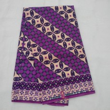 Purple and Light Peach UE Experience - 6 Yards