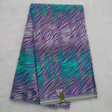 Teal Green and Purple Wax - 6 Yards