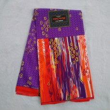 Purple and Multicolour Pattern Wax  - 6 Yards