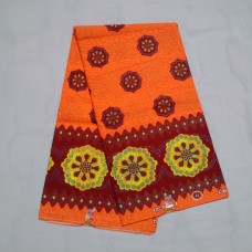 Orange Brown Celebrations Wax - 6 Yards